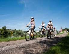 A vélo sur la V50 le long de la Saône