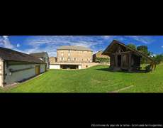 Vue sur le site de l'Ecomusée du Pays de la cerise à ougerolles